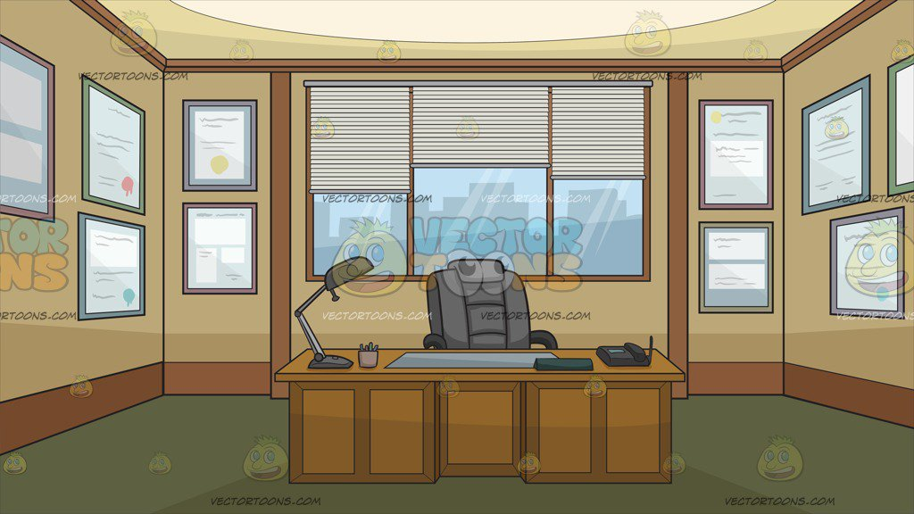 1024x576 The Office Of A Newspaper Editor Background Clipart By Vector Toons