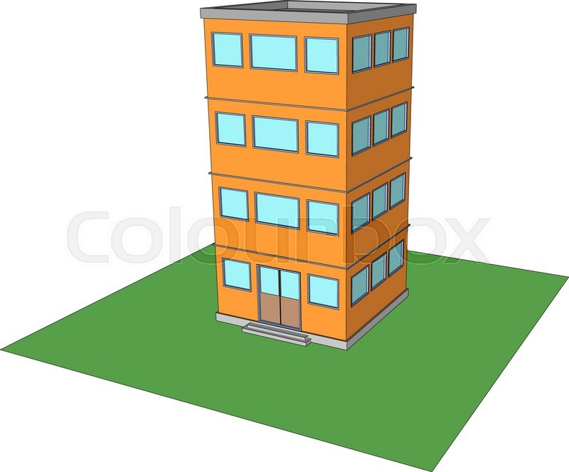 800x663 Modern Office Building Vector Four Floors 1 Stock Vector Colourbox