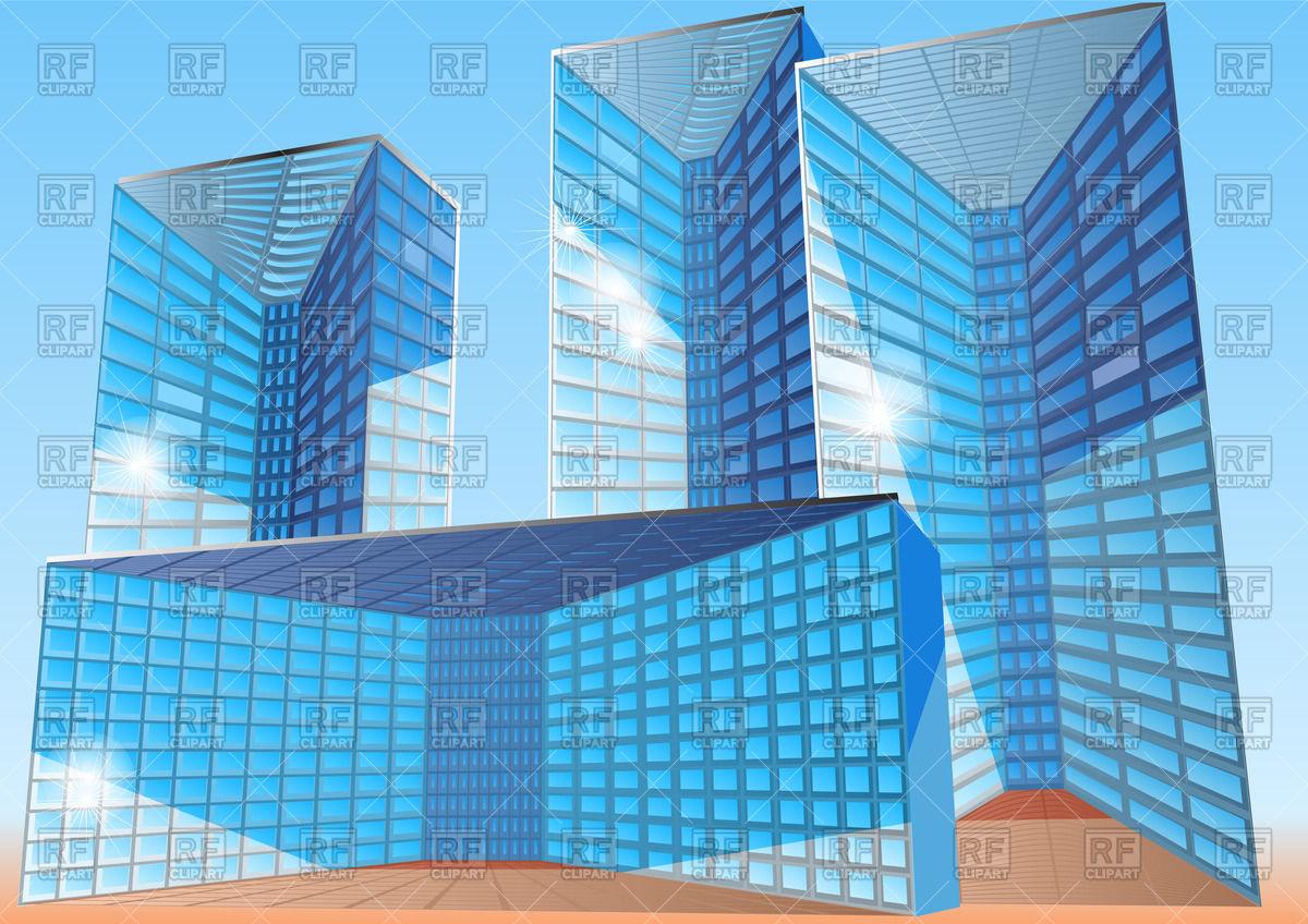1200x848 Modern Office Buildings Vector Image Vector Artwork Of