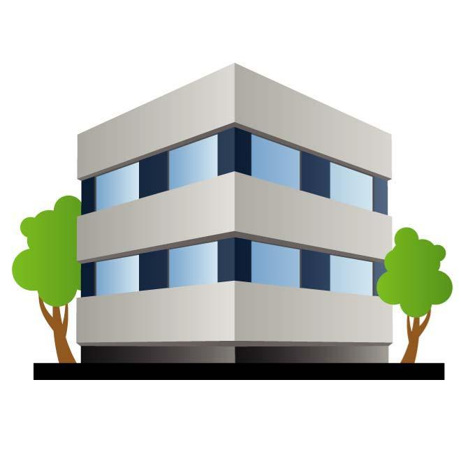 660x660 Office Building Vector