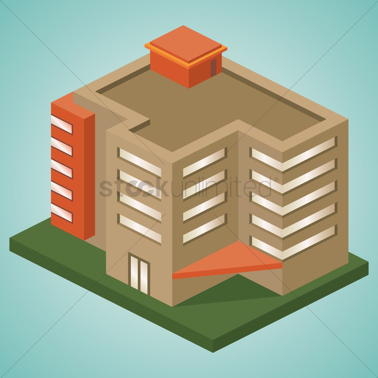 1300x1300 Office Building Vector Image