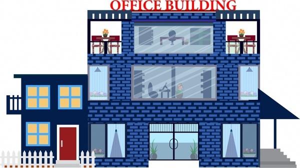 600x337 Office Building Cartoon Free Vector Download (99,693 Free Vector
