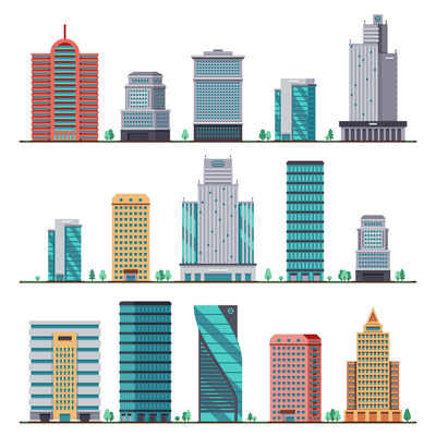 400x400 Page 1 Office Building On Curated Vector Illustrations, Stock