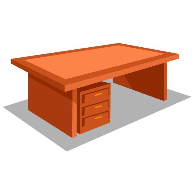 660x660 Office Desk Vector Graphics