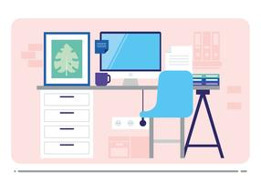 286x200 Office Desk Free Vector Art