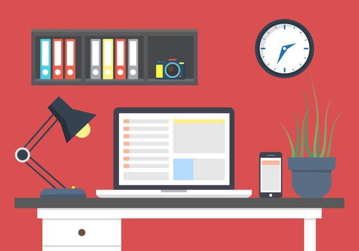 700x490 Office Desk Vector