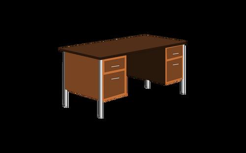 500x312 Office Desk Vector Clip Art Public Domain Vectors