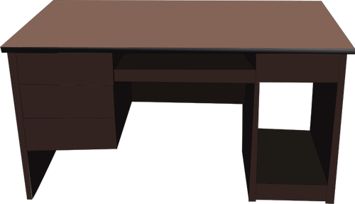 500x287 Office Desk Vector Illustration Public Domain Vectors
