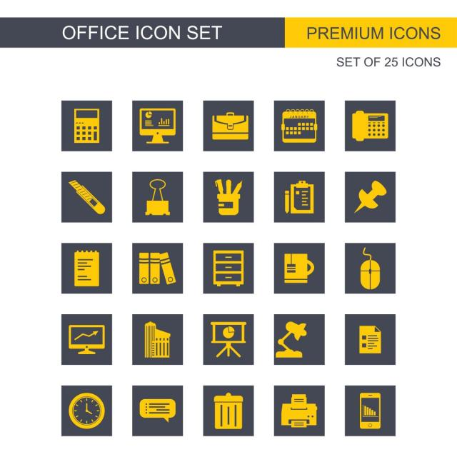 640x640 Office Icons Set, Icon, Office, Icons Png And Vector For Free Download