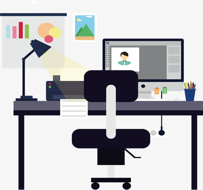 650x608 Modern Office Environment, Vector Material, Office, Office Png And