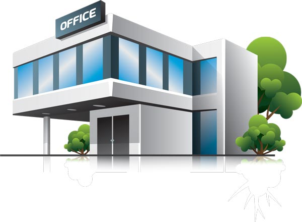 600x440 3d Houses And Office Buildings Vectors, Home Office Vector