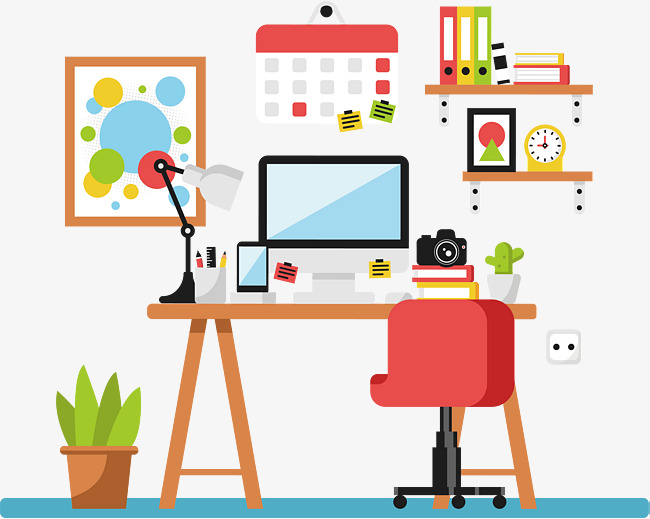 650x519 Colorful Office, Office Vector, Vector Png, Office Png And Vector
