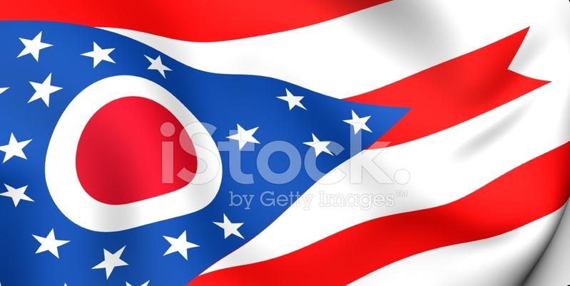 799x402 Bandera De Ohio Stock Vector