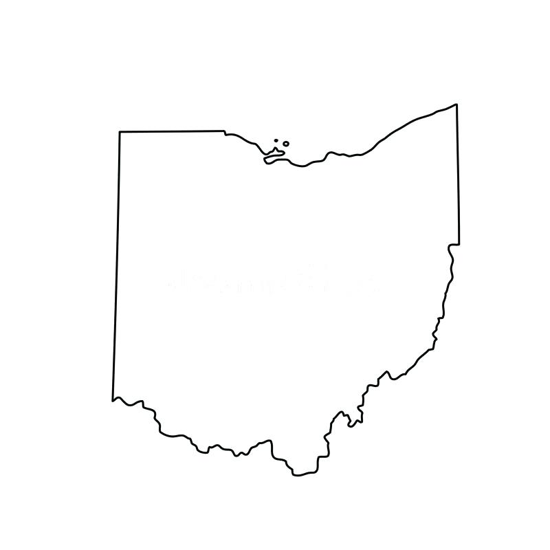Ohio State Outline Vector At Getdrawings Com Free For Personal Use