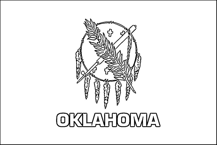 700x468 Collection Of Oklahoma State Flag Drawing High Quality, Free