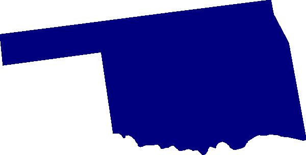 Oklahoma Outline Vector