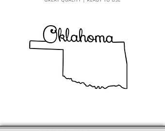 340x270 Oklahoma Svg Oklahoma State Outline Oklahoma Silhouette Etsy