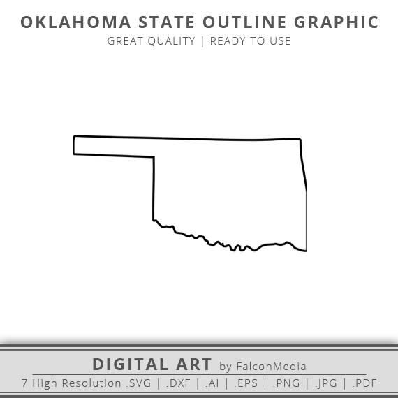 570x570 Oklahoma Svg Oklahoma State Outline Svg Oklahoma Outline Etsy