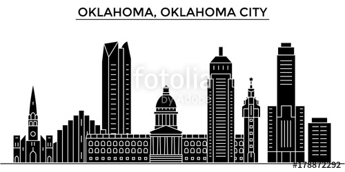500x250 Usa, Oklahoma, Oklahoma City Architecture Skyline, Buildings