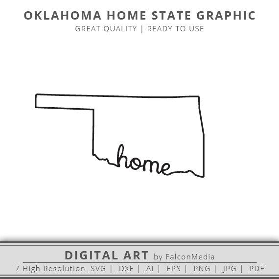 570x570 Oklahoma Svg Oklahoma Home Svg Oklahoma State Outline Svg Etsy