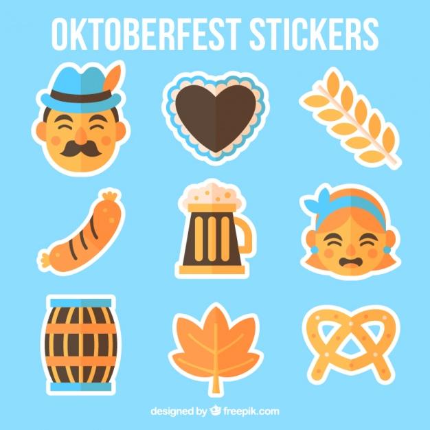 626x626 Nice Stickers Oktoberfest Vector Free Download
