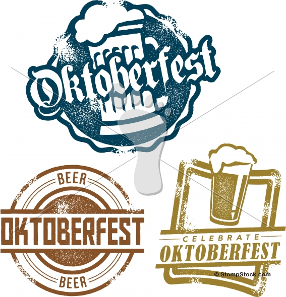 567x590 Oktoberfest Beer Festival Vector Design Logo Stompstock