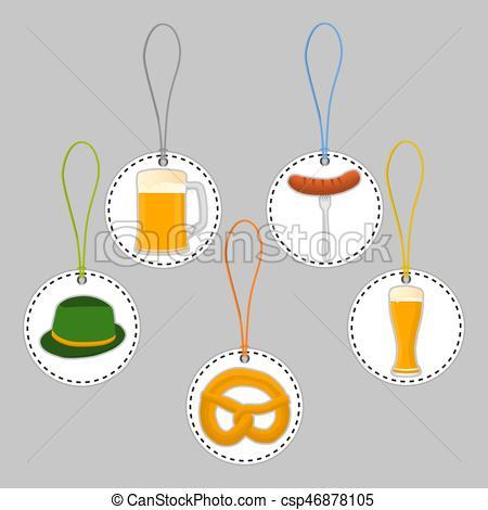 450x470 Vector Illustration Logo For Bar Banner Oktoberfest,pub During The