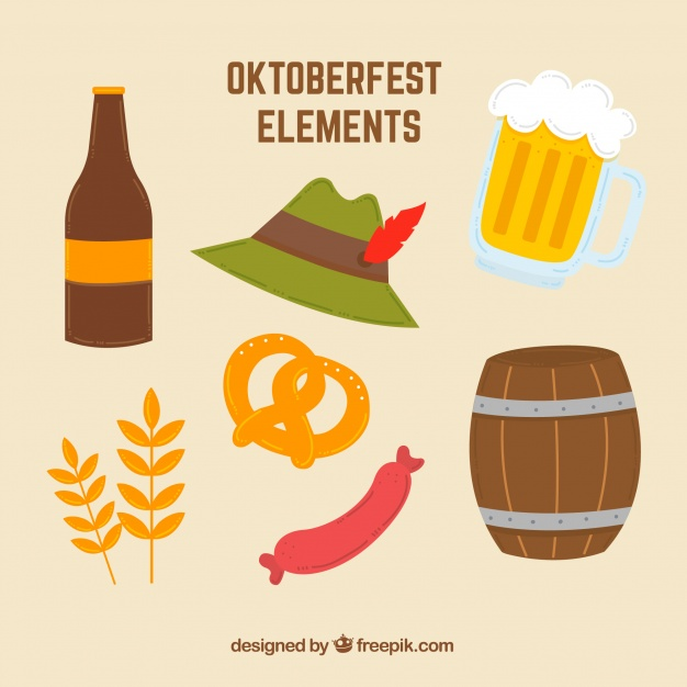 626x626 7 Elements For Oktoberfest Vector Free Download