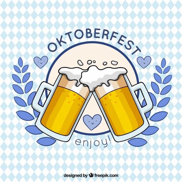 626x626 Beer Toast In The Oktoberfest Vector Free Download