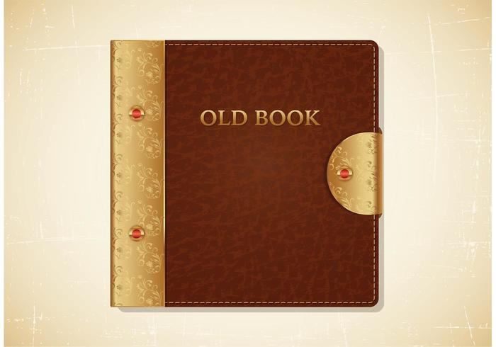 700x490 Old Book Leather Cover Vector