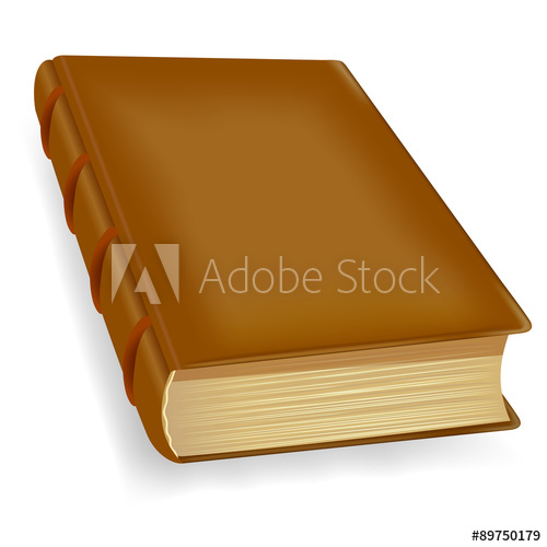 500x500 Old Book, Vector Icon