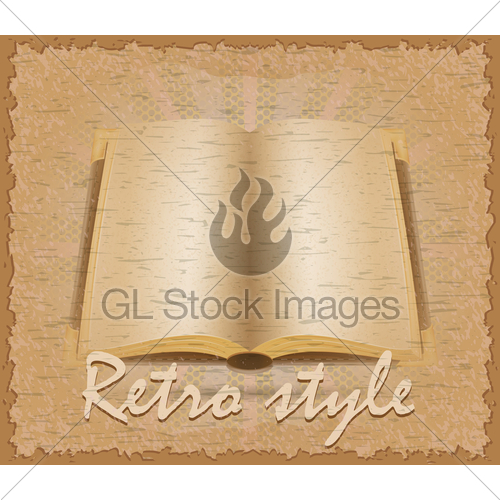 500x500 Retro Style Poster Old Book Vector Illustration Gl Stock Images