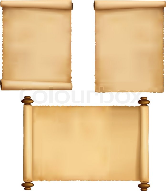 696x800 Set Of Old Paper Sheets And Book. Vector. Stock Vector Colourbox