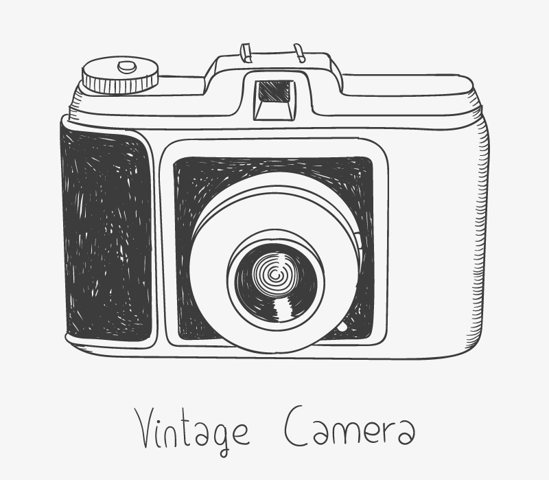 800x699 Collection Of Camera Vector Drawing High Quality, Free