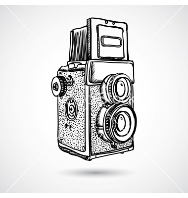 380x400 Drawn Camera Vintage Vector