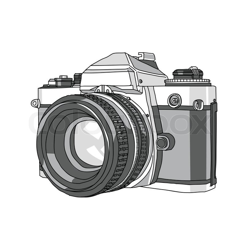 800x800 Hand Drawn Of Vector Camera Stock Vector Colourbox