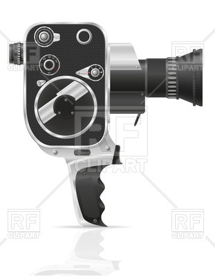 311x400 Old Movie Video Camera Vector Image Vector Artwork Of Technology