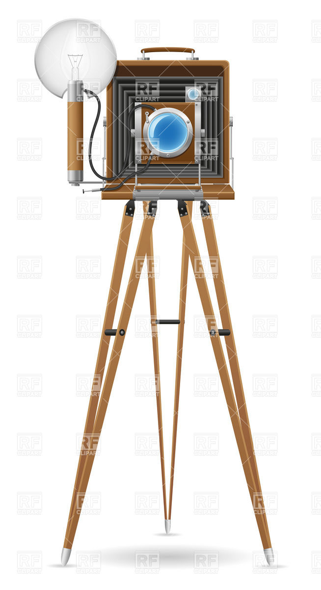654x1200 Old Photo Camera Vector Image Vector Artwork Of Objects