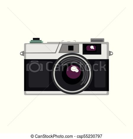 450x470 Old Rangefinder Camera Vector Illustration On A White Background