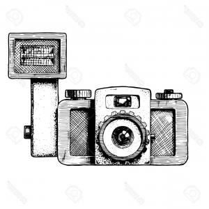 300x300 Vintage Old Camera With Flash Vector Sohadacouri