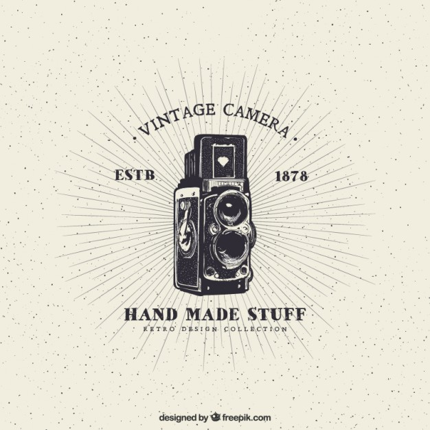 626x626 Vintage Camera Vector Free Download