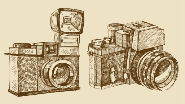 597x335 Vintage Camera Vector Free Vector Download (7,758 Free Vector) For