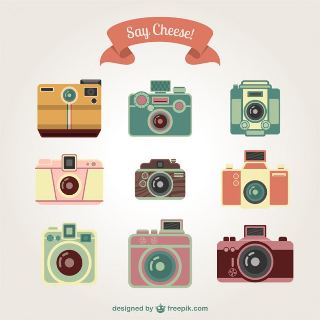 626x626 Vintage Cameras Collection Vector Free Download