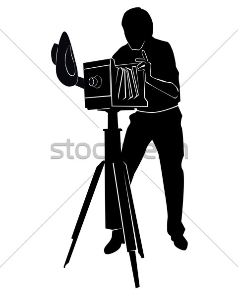 480x600 Photographer With The Old Camera Vector Illustration Yura
