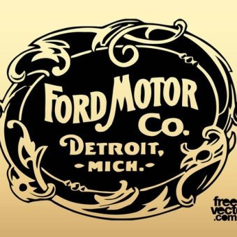340x340 Old Ford Motor Company Logo Free Vector 123freevectors