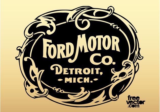 632x442 Old Ford Motor Company Logo Free Vector Download 162141 Cannypic