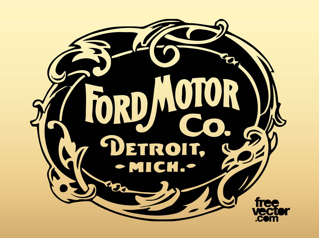 1024x765 Old Ford Motor Company Logo Vector Art Amp Graphics