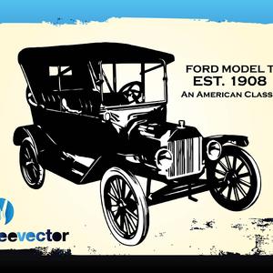 300x300 Vintage Ford Car Vector
