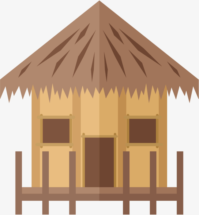 650x704 Thatched Cottage, Old House, House Vector, Residential House