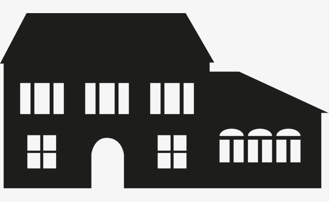 650x400 Black Old House, Black Vector, House Vector, Residential House Png